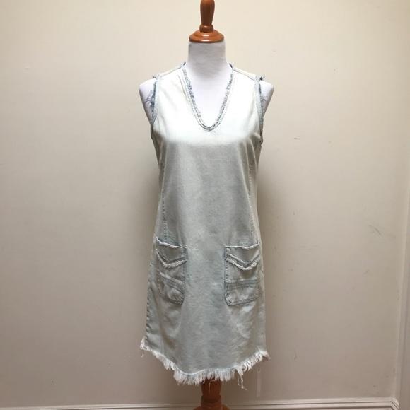 b3523b2fc Blank NYC Dresses | Frayed Hem Denim Tunic Dress | Poshmark